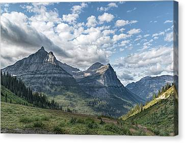 Canvas Print featuring the photograph Mt. Oberlin From Logan Pass by Jemmy Archer