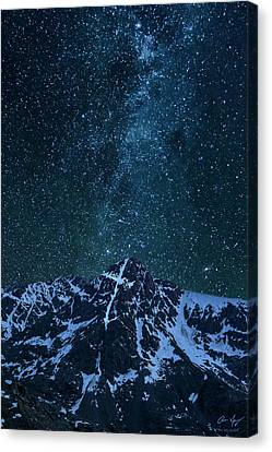 Canvas Print featuring the photograph Mt. Of The Holy Cross Milky Way by Aaron Spong