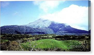 Canvas Print featuring the photograph Mt. Pele, Martinique by Merton Allen