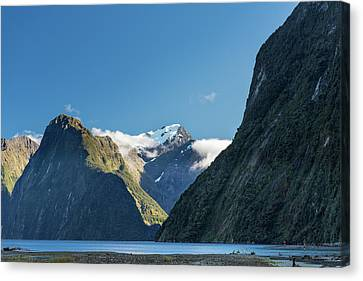 Canvas Print featuring the photograph Mt Pembroke Glacier by Gary Eason