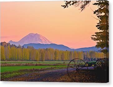 Mt Rainier From The Redmond Valley Canvas Print by Alvin Kroon