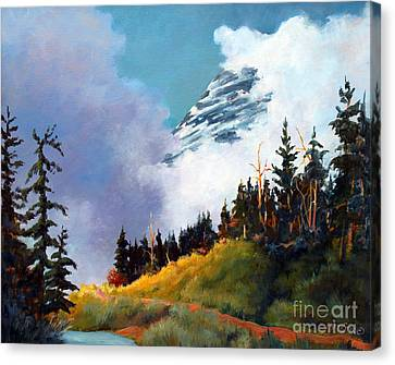 Mt. Rainier In Clouds Canvas Print
