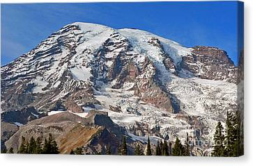 Canvas Print featuring the photograph Mt. Rainier In The Fall by Larry Keahey