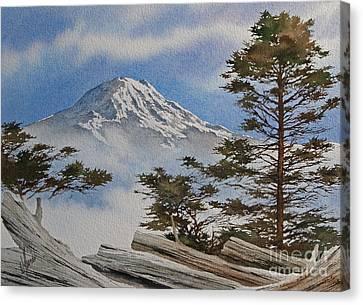 Mt. Rainier Landscape Canvas Print by James Williamson
