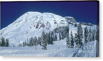 Canvas Print featuring the photograph Mt. Rainier by Larry Keahey