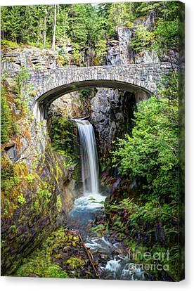 Mt Rainier National Park, Christine Falls Canvas Print