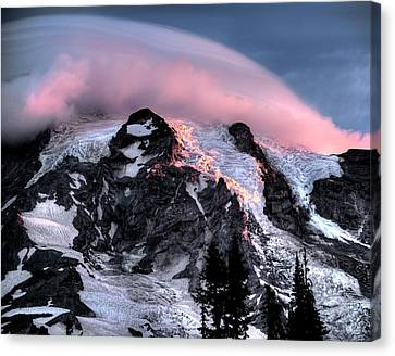 Mt Rainier Sunrise Fine Art Photograph Canvas Print