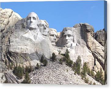 Mt Rushmore  Canvas Print by Angie Vogel