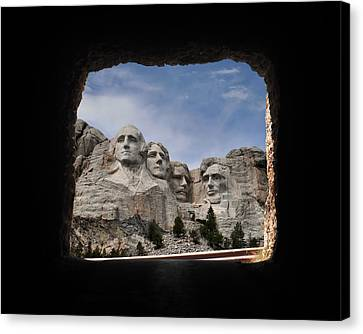 Canvas Print featuring the photograph Mt Rushmore Tunnel by David Lawson