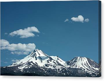Mt Shasta With Heart-shaped Cloud Canvas Print by Carol Groenen
