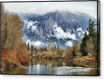 Canvas Print featuring the photograph Mt Si by Ken Stanback