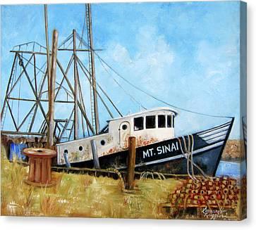 Mt. Sinai Fishing Boat Canvas Print