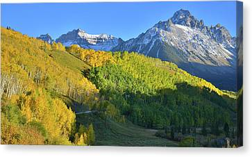 Canvas Print featuring the photograph Mt. Sneffels From County Road 7 by Ray Mathis