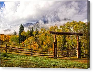Mt Sopris Under The Clouds Canvas Print