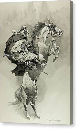 Mubarek The Arabian Chief Canvas Print