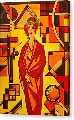 Art Deco Vogue Canvas Print by Emma Childs