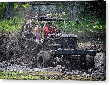Canvas Print featuring the photograph Mud Bogging by Mary Lee Dereske
