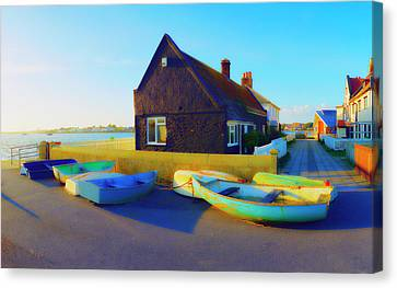 Muddage  Rowers Canvas Print by Jan W Faul