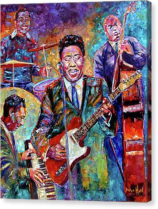 Muddy Waters And His Band Canvas Print by Debra Hurd