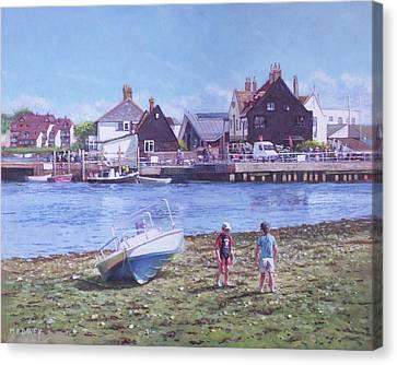 Canvas Print - Mudeford Quay Christchurch From Hengistbury Head by Martin Davey