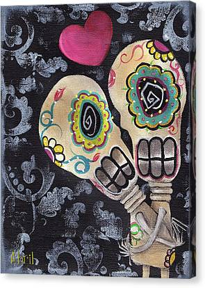 Muertos De Amor Canvas Print by  Abril Andrade Griffith