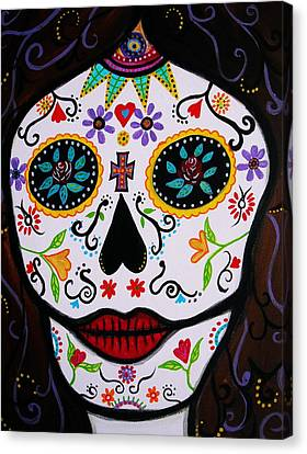 Canvas Print featuring the painting Muertos by Pristine Cartera Turkus