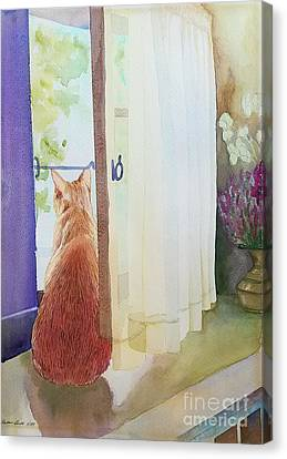 Muffin At Window Canvas Print