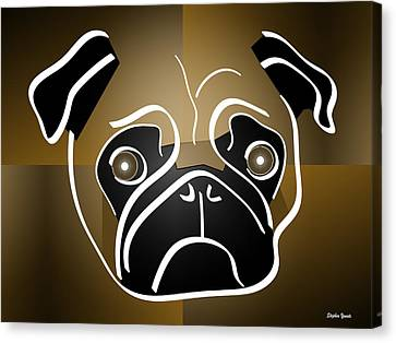 Mug Of A Pug Canvas Print by Stephen Younts