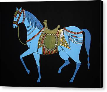 Mughal Horse Canvas Print by Stephanie Moore