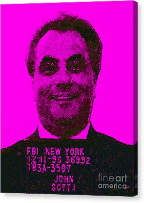 Mugshot John Gotti M88 Canvas Print by Wingsdomain Art and Photography