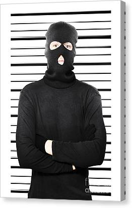 Mugshot Of A Busted Thief Canvas Print by Jorgo Photography - Wall Art Gallery