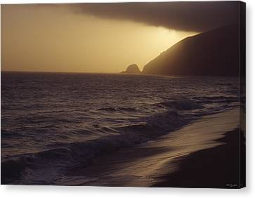 Mugu Rock - Pacific Coast Highway Canvas Print by Soli Deo Gloria Wilderness And Wildlife Photography