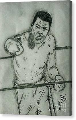 Muhammad Ali Canvas Print by Collin A Clarke