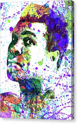 Boxe Canvas Print - Muhammad Ali by Dante Blacksmith