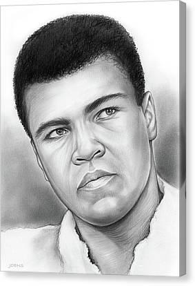 Muhammad Ali Canvas Print by Greg Joens