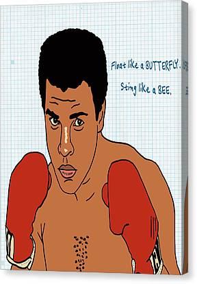 Muhammad Ali Canvas Print by Nicole Wilson