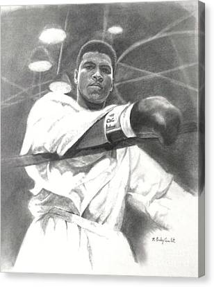 Canvas Print featuring the drawing Young Cassius Clay by Noe Peralez