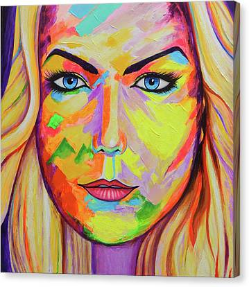 Mujer Canvas Print by Angel Ortiz