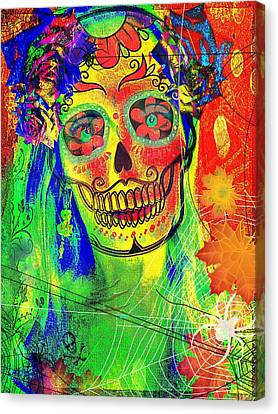 Mujer Muerte Canvas Print