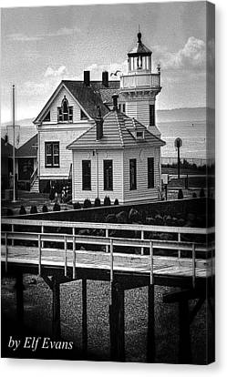 Canvas Print featuring the photograph Mukilteo Lighthouse by Elf Evans