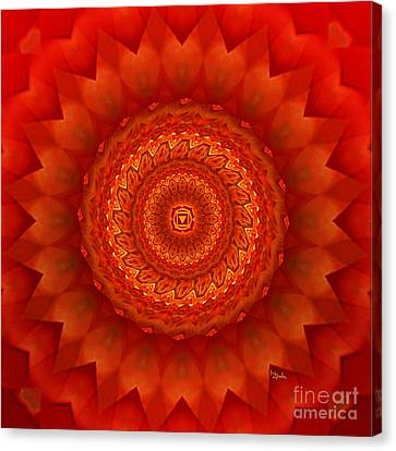 Muladhara Chakra Mandala Canvas Print by Giada Rossi
