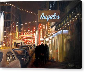 Mulberry St. Nyc Canvas Print