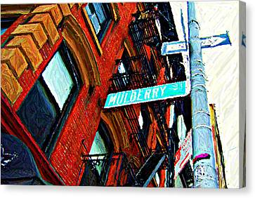 Mulberry Street Sketch Canvas Print by Randy Aveille