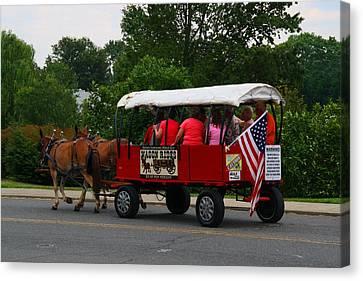 Mule-drawn Wagon Rides Canvas Print by Kathryn Meyer