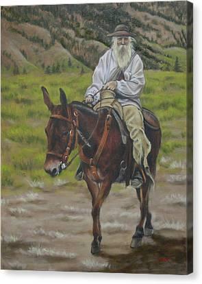 Mule Walk Canvas Print
