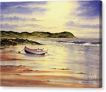 Canvas Print featuring the painting Mull Of Kintyre Scotland by Bill Holkham