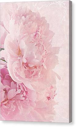 Artsy Pink Peonies Canvas Print by Sandra Foster