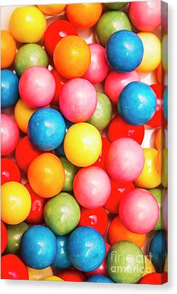 Multi Colored Gumballs. Sweets Background Canvas Print