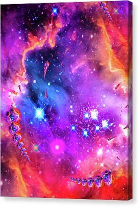 Multi Colored Space Chaos Canvas Print by Matthias Hauser
