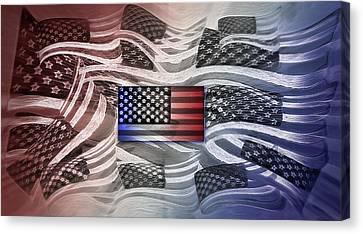 Multi - Flag Abstract 2 Canvas Print by Steve Ohlsen